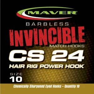 Maver Invincible Hooks to Nylon Hair Rigs CS24