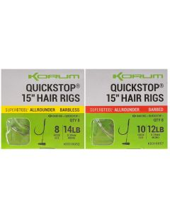 "Korum Big Fish Quickstop 4"" Hair Rigs"