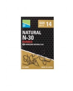 Preston Natural N-30 Barbed Hooks