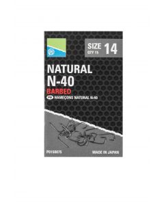 Preston Natural N-40 Barbed Hooks