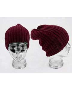 Sticky Baits Maroon Knitted Beanie