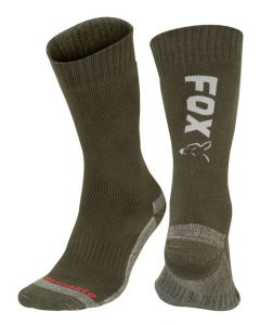 Fox Green/Silver Thermolite Long Socks