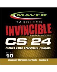 Maver Invincible Hooks to Nylon Hair Rigs CS24