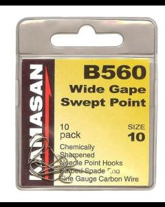 Kamasan B560 Wide Gape Barbed Hooks