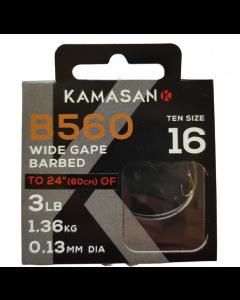 Kamasan B560 Barbed Hooks To Nylon