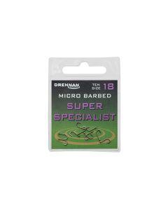 Drennan Super Specialist Micro Barbed Eyed Hooks